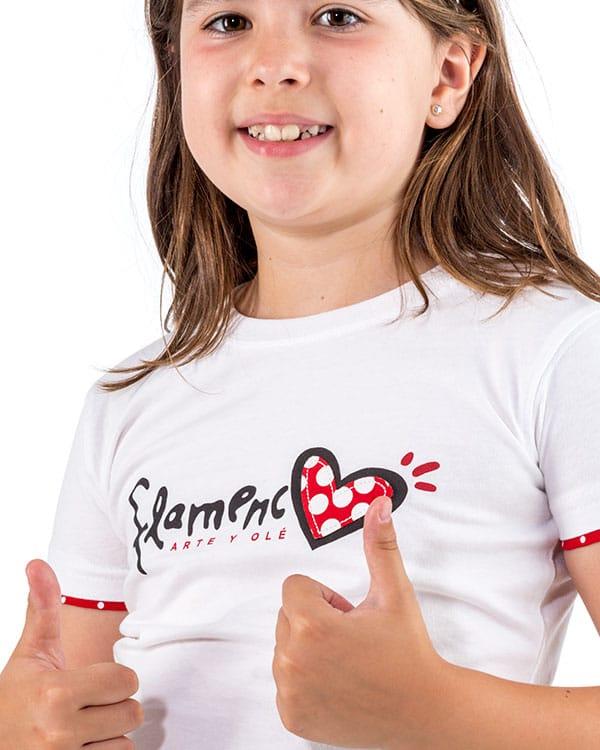 benegassi camiseta nina flamenco corazon fl1bln 2