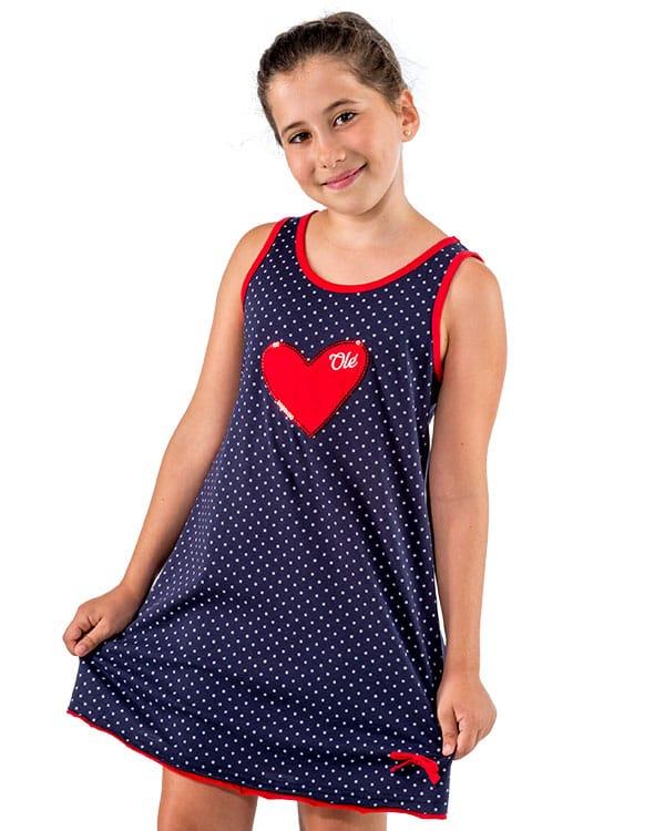 benegassi camiseta nina flamenco lunares corazon n4azvn 1