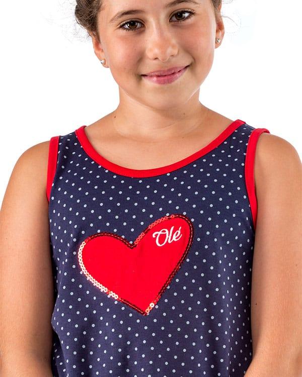 benegassi camiseta nina flamenco lunares corazon n4azvn 2