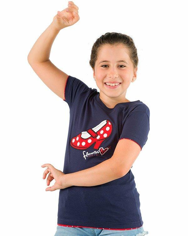 benegassi camiseta nina flamenco tacon fl2azn 1 1