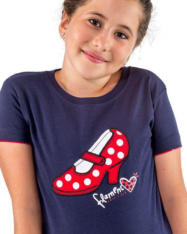 benegassi camiseta nina flamenco tacon fl2azn 2