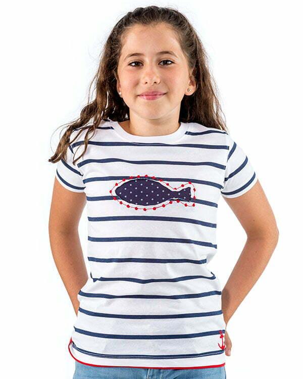 benegassi camiseta nina naturalmente pez lunares n9blran 1