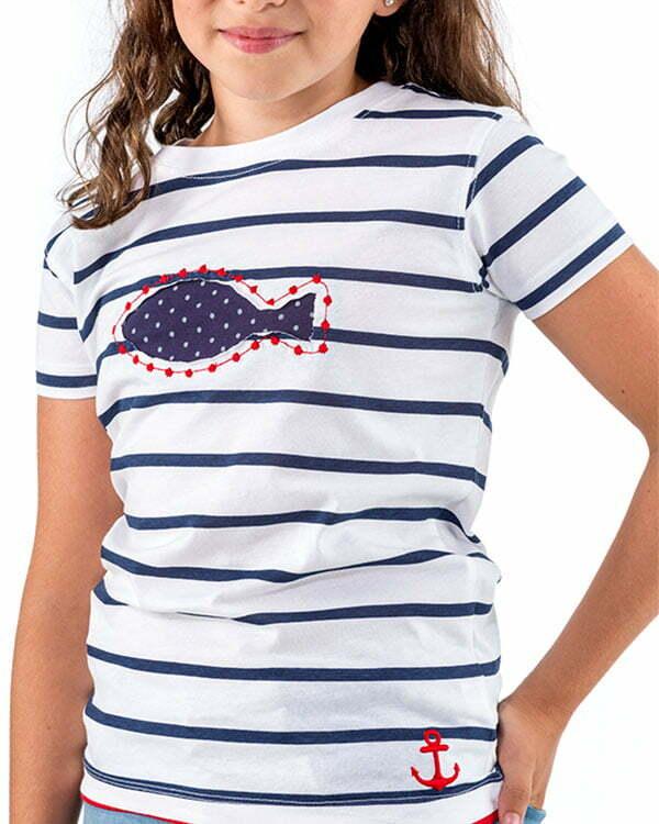 benegassi camiseta nina naturalmente pez lunares n9blran 2