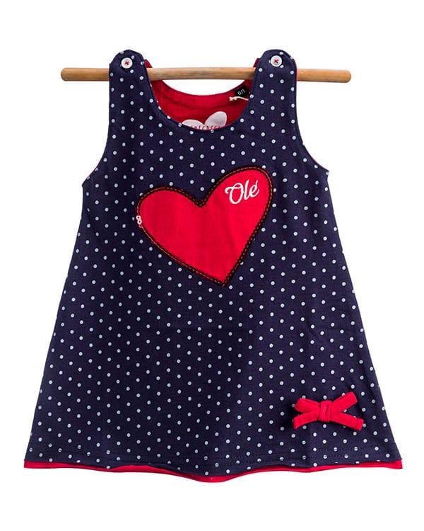 benegassi vestido bebe lunares corazon N4AZLTG 1
