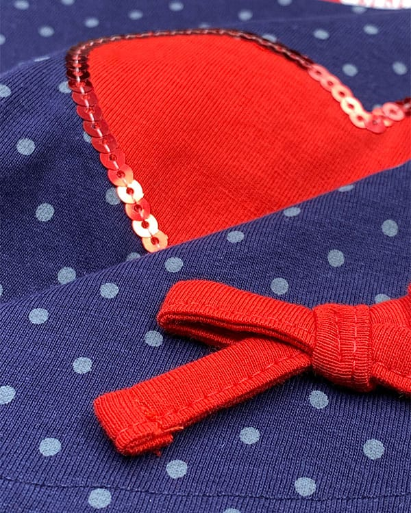 benegassi vestido bebe lunares corazon N4AZLTG 2