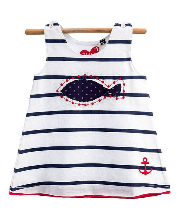 benegassi vestido bebe rayas pez lunares N9BLRATG 1