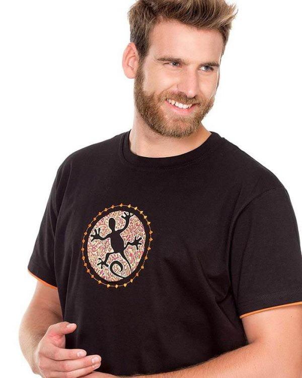 camiseta hombre negra manga corta lagarto roto naturalmente e1603997998296