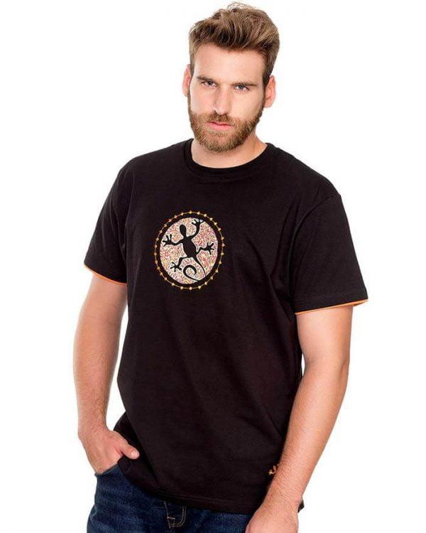 camiseta manga corta lagarto roto negro naturalmente hombre e1603997918378