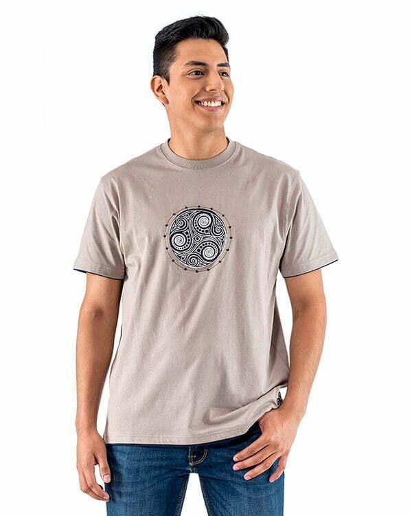 camiseta managa corta adulto gris trisquel relieve naturalmente NM9GR1