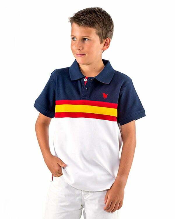 Polo infantil SOLOTORO bandera de España